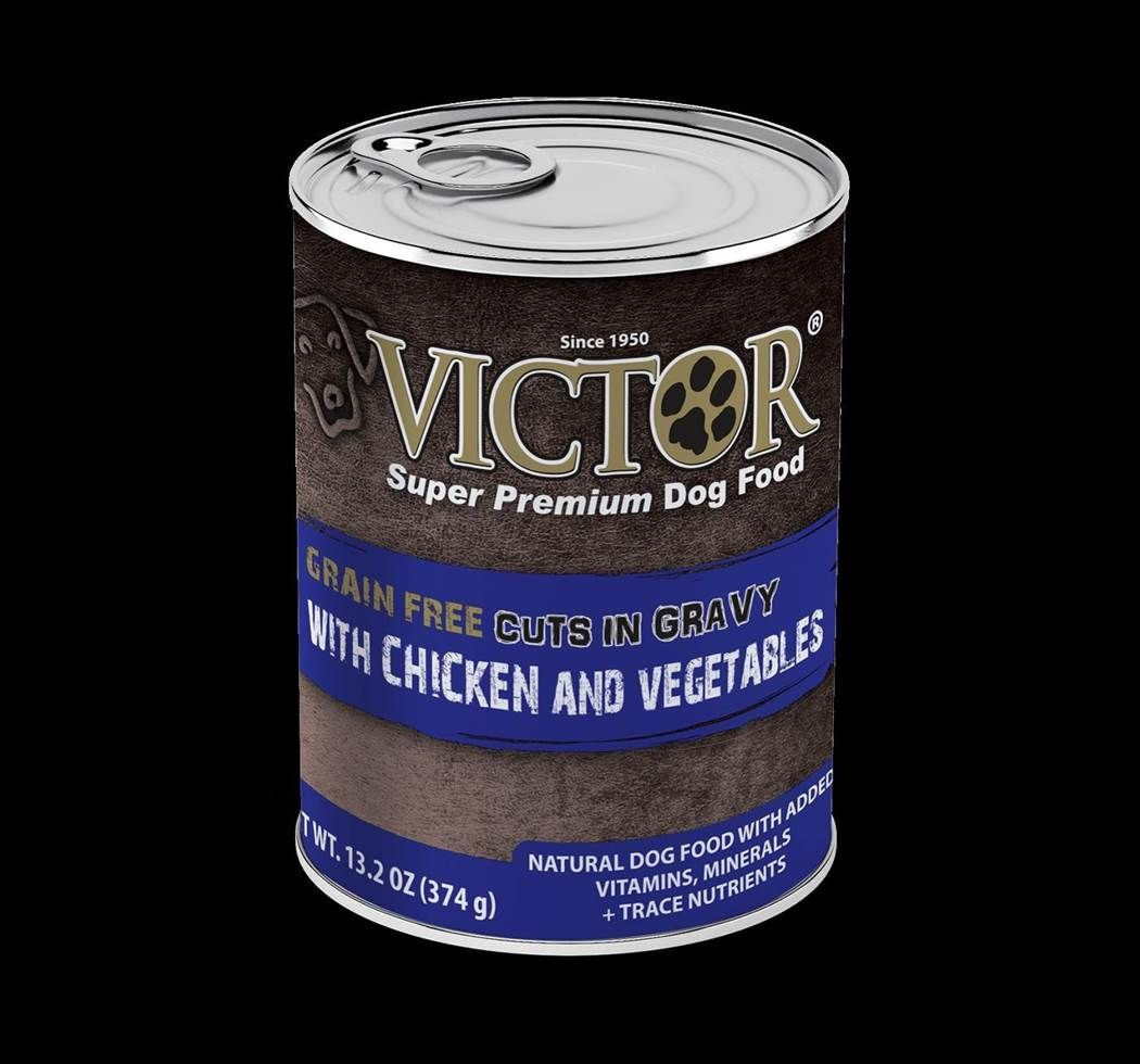 Victor Cuts in Gravy with Chicken and Vegetables Formula Canned Dog Food 13.2oz 00011