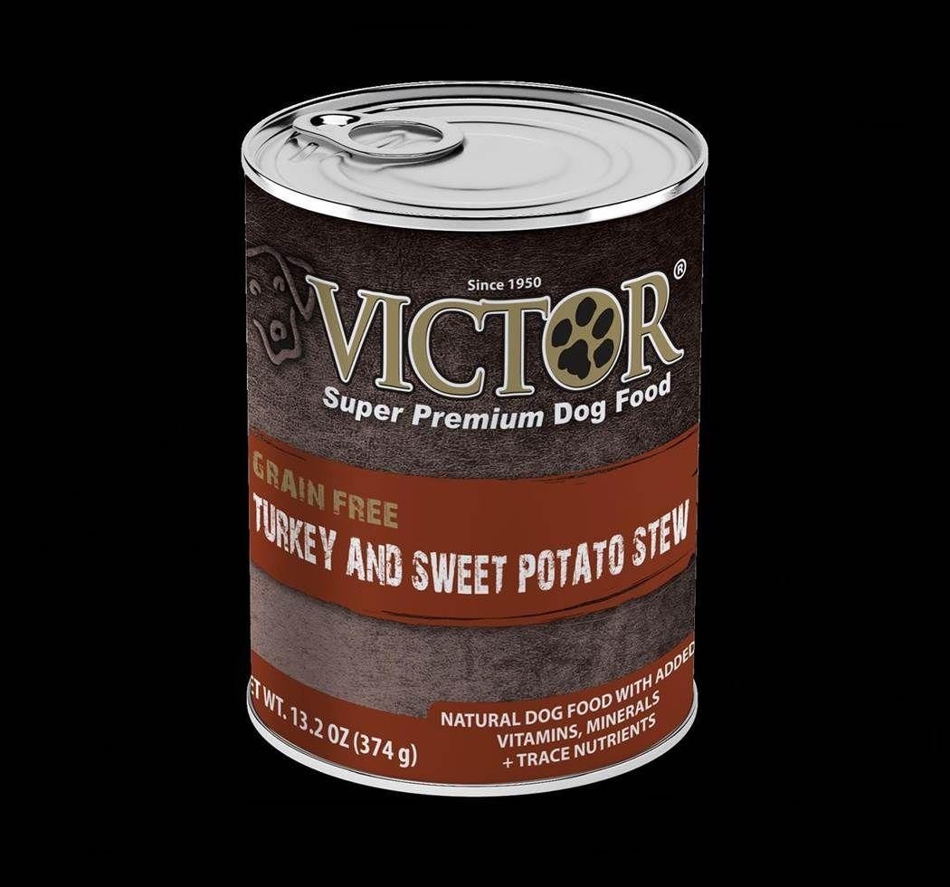 Victor Turkey and Sweet Potato Stew Formula Canned Dog Food 13.2oz 00012