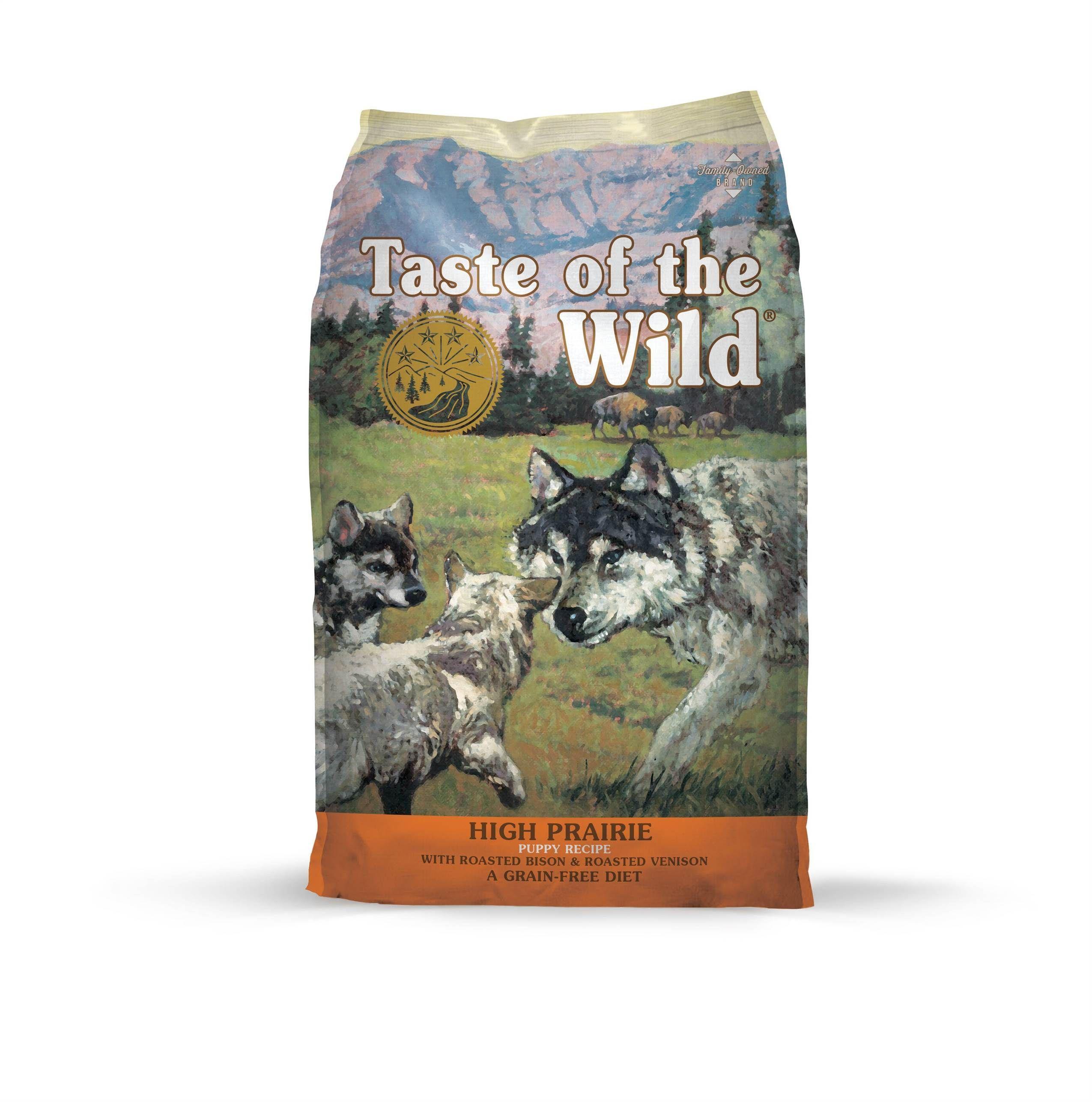 Taste of the Wild High Prairie Puppy Formula Dry Dog Food 5lbs 00014