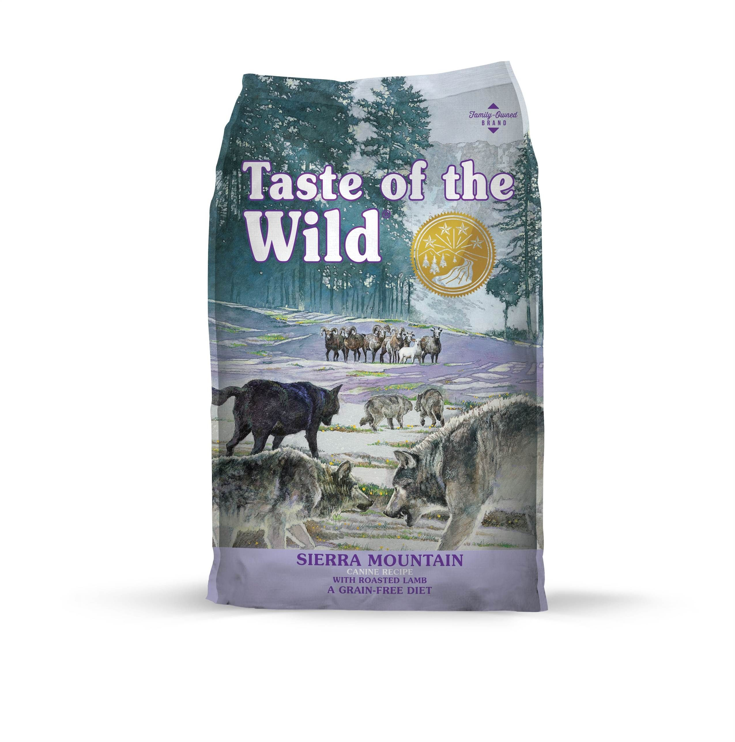 Taste of the Wild Sierra Mountain with Roasted Lamb Formula Dry Dog Food 5lbs-30lbs 00016