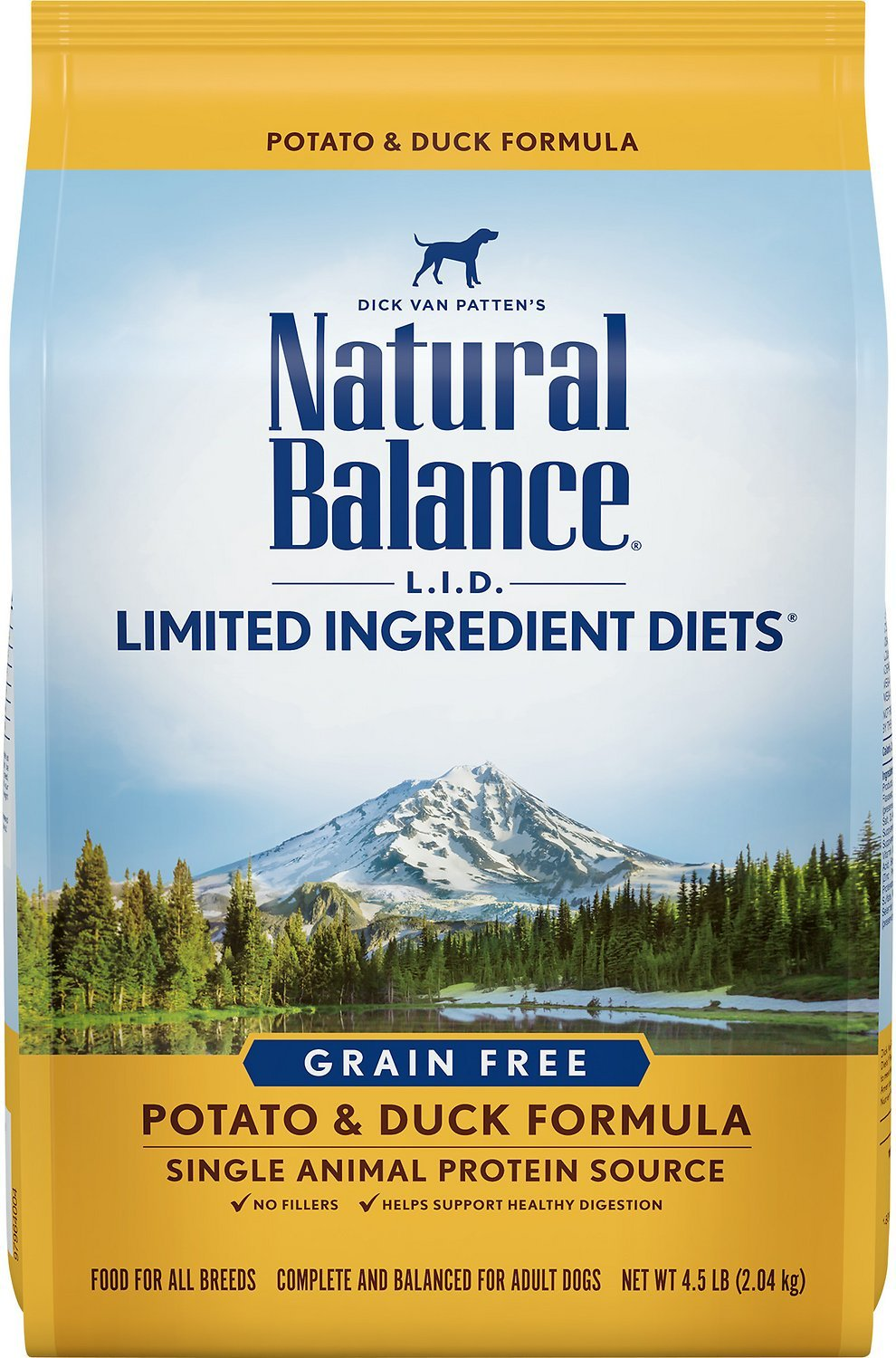 Natural Balance L.I.D with Potato and Duck Formula Dry Dog Food 5lbs 00023