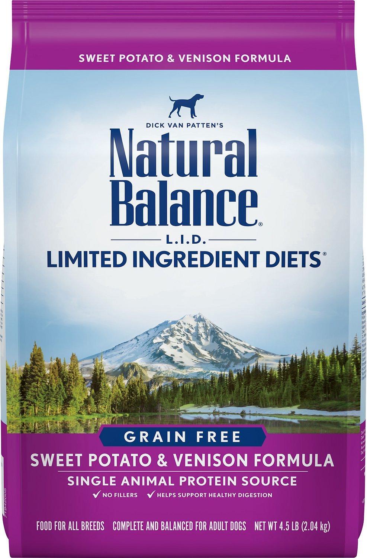 Natural Balance L.I.D with Sweet Potato and Venison Formula Dry Dog Food 5lbs-13lbs 00024
