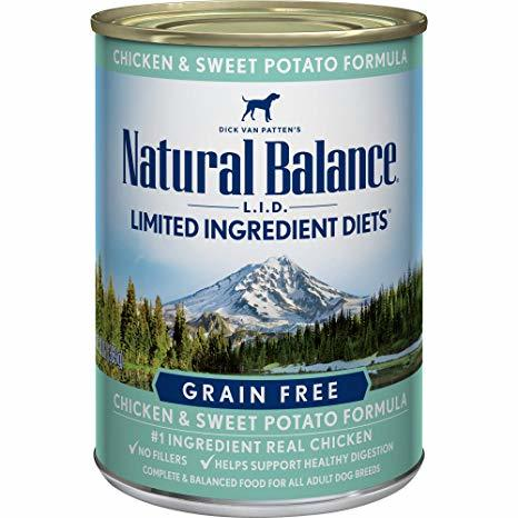 Natural Balance LID with Chicken and Sweet Potato Formula Canned Dog Food 13oz 00028