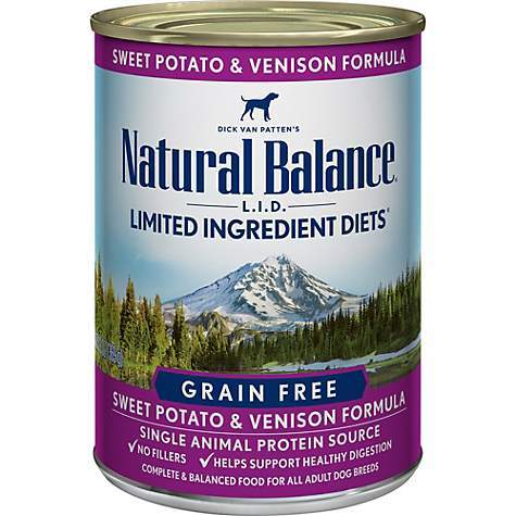 Natural Balance LID with Sweet Potato and Venison Formula Canned Dog Food 13oz 00029