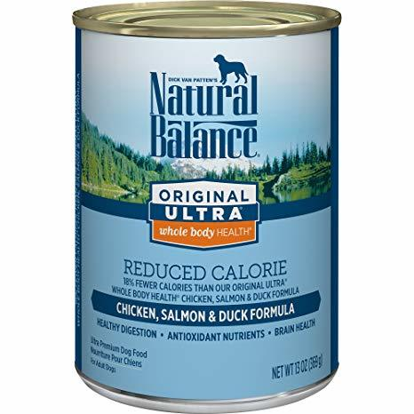 Natural Balance Original Ultra - Reduced Calorie - with Chicken, Duck, and Salmon Formula Canned Dog Food 13oz 00031