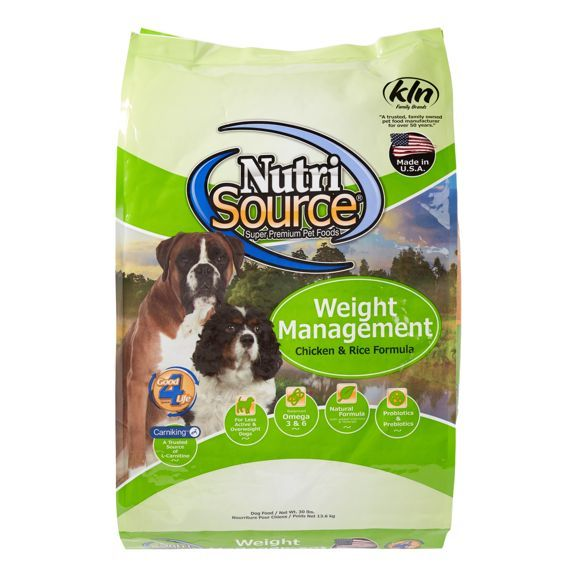 NutriSource Weight Management with Chicken and Chicken Meal Formula Dry Dog Food 6.6lbs 00025