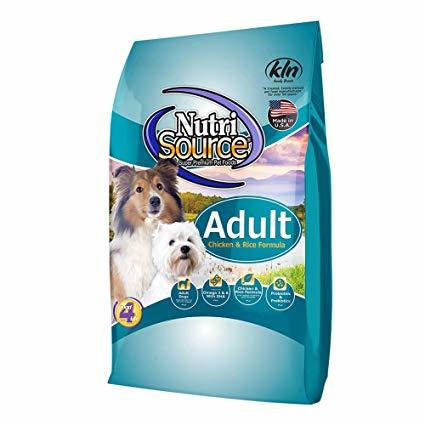 NutriSource Adult with Chicken and Rice Formula Dry Dog Food 5lbs 00033
