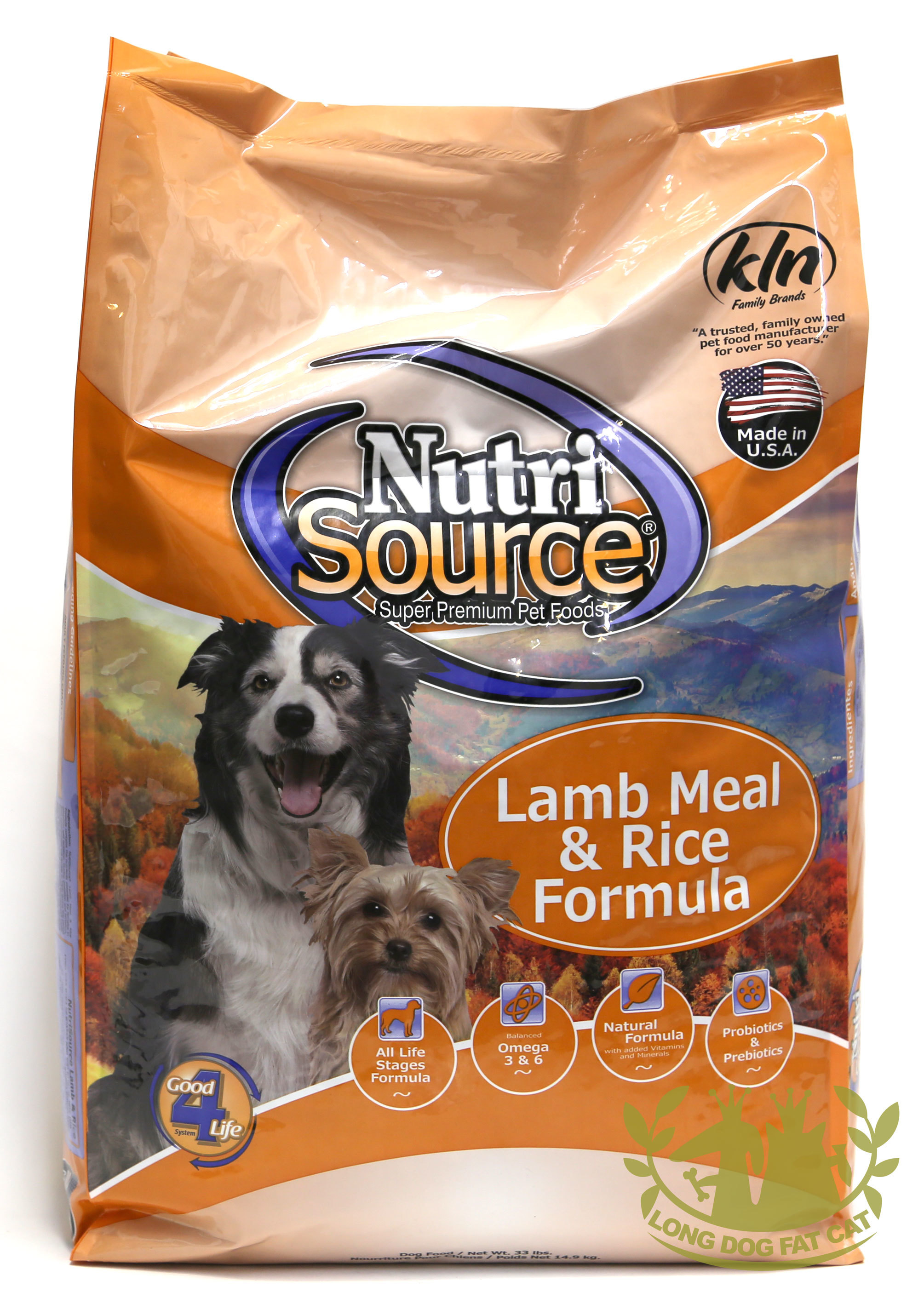 NutriSource with Lamb and Rice Formula Dry Dog Food 5lbs 00034