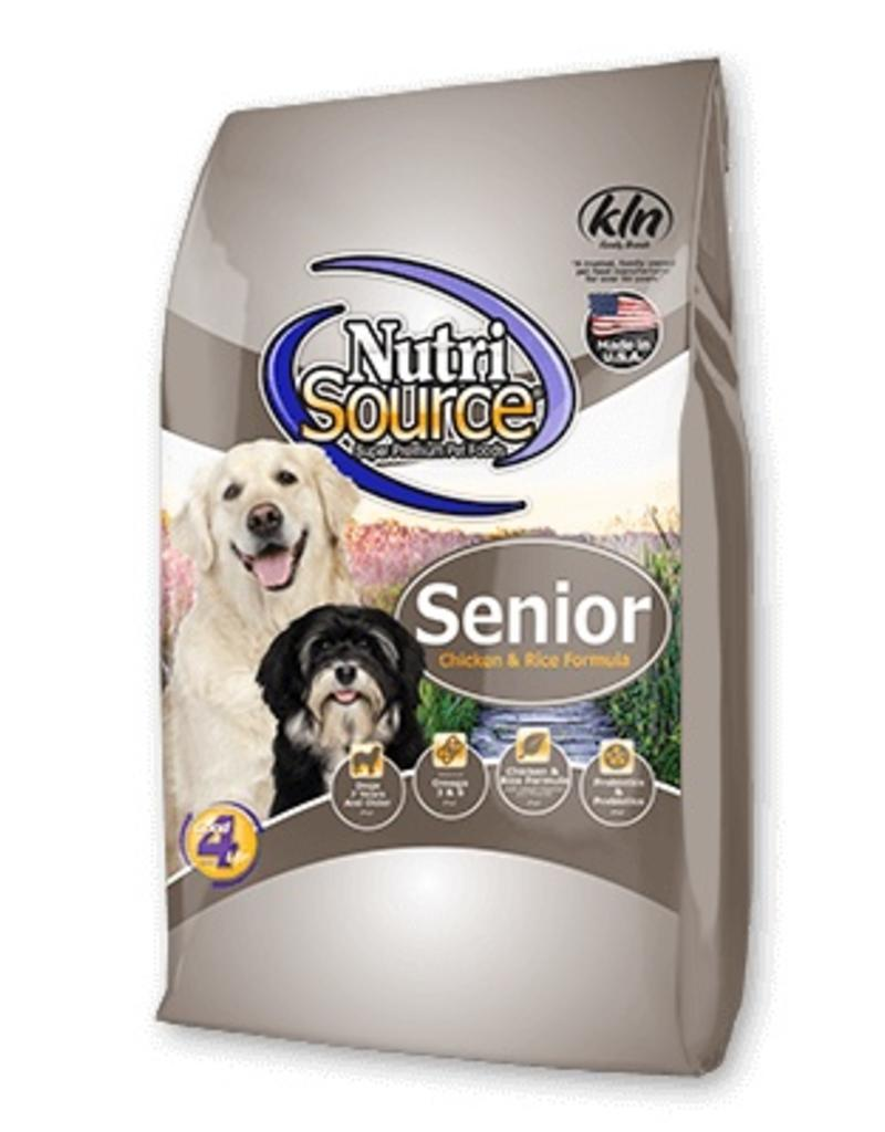 NutriSource Senior with Chicken and Rice Formula Dry Dog Food 5lbs 00036