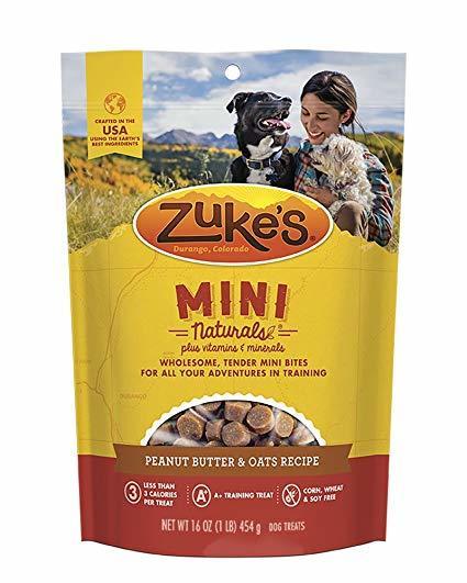 Zuke's Mini Naturals Peanut Butter and Oat 6oz 00039