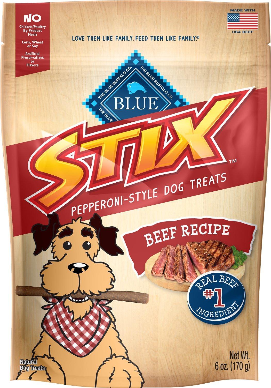 Blue Buffalo Stix Pepperoni Style - Beef 6oz 00051