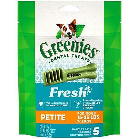 Greenies Fresh Petite for dogs 15lbs to 25lbs 3oz 00054