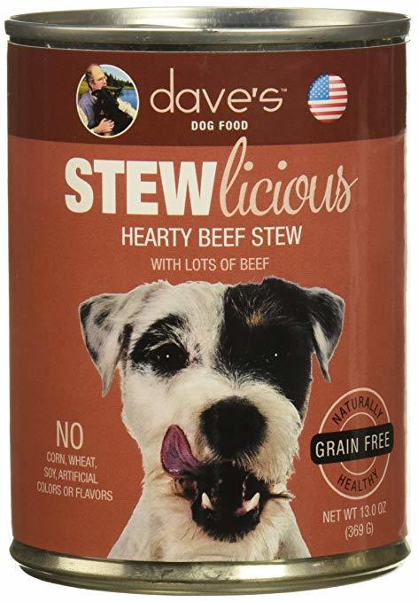 Dave's Stew Licious Hearty Beef Stew Formula Canned Dog Food 13oz 00068