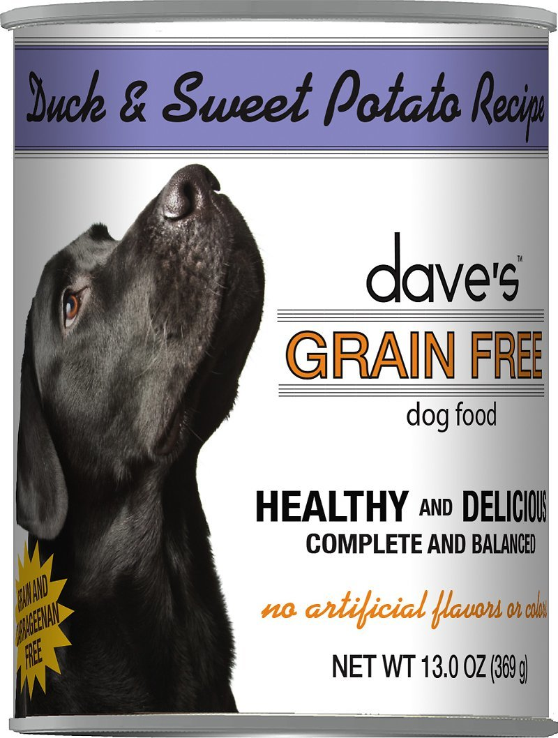 Dave's Grain Free Duck and Potato Formula Canned Dog Food 13oz 00070