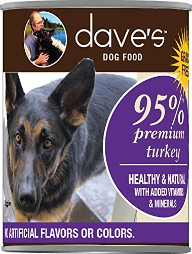 Dave's 95% Premium Turkey Formula Canned Dog Food 13oz 00071