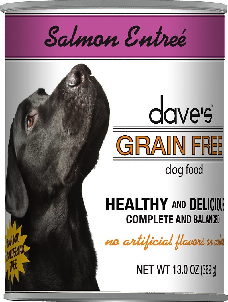 Dave's Grain Free Salmon Entree Formula Canned Dog Food 13oz 00074