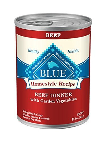 Blue Buffalo Home Style Recipe Beef Dinner with Garden Vegetables Formula Canned Dog Food 12.5oz 00076