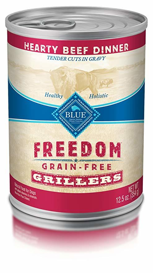 Blue Buffalo Freedom Hearty Beef Dinner Grillers Formula Canned Dog Food 12.5oz 00077