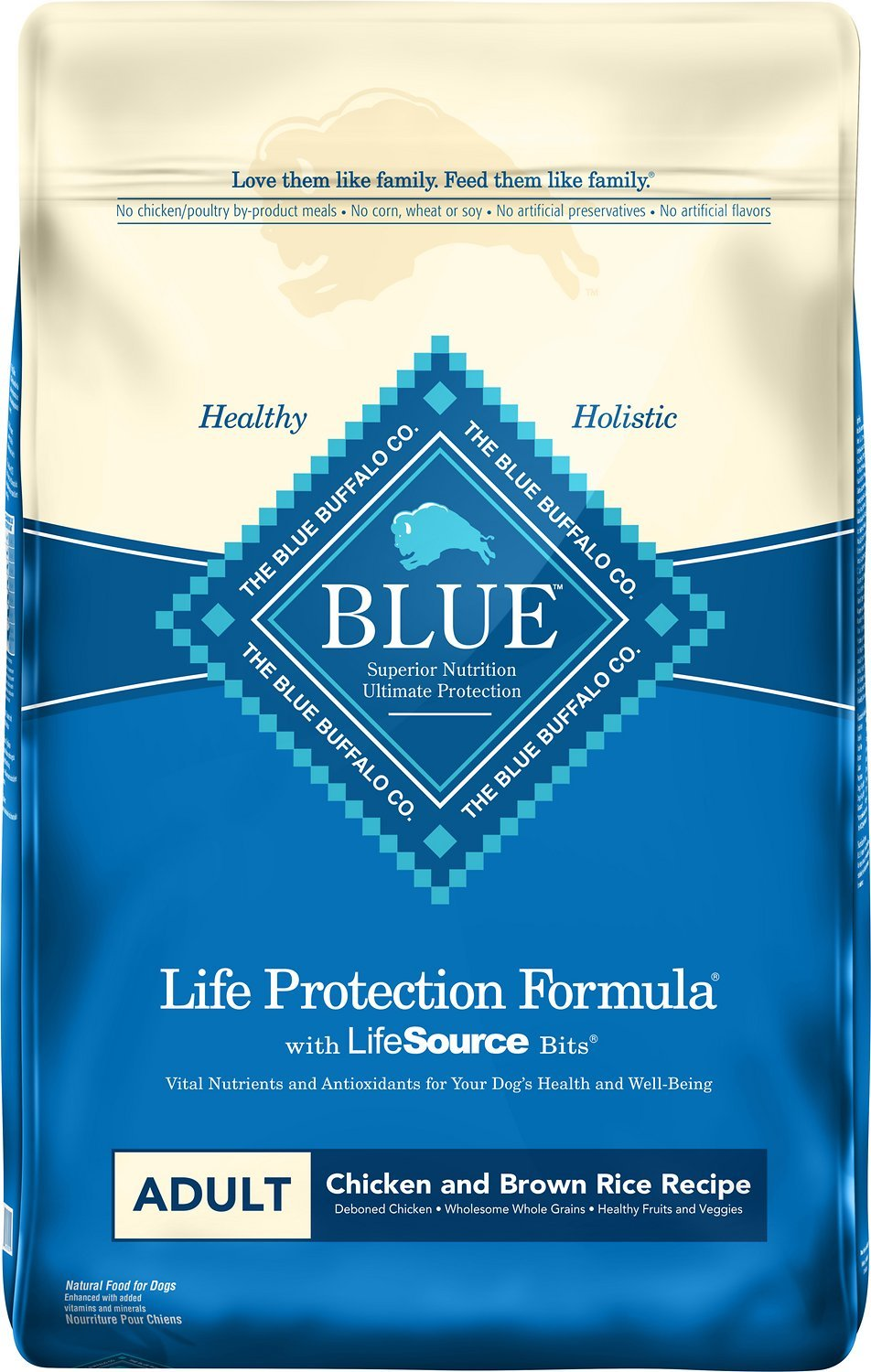 Blue Buffalo Life Protection Formula Adult Chicken and Rice Formula Dry Dog Food 6lbs 00078