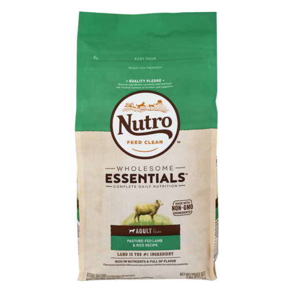 Nutro Essentials Adult Pasture Fed Lamb and Rice Formula Dry Dog Food 15lbs 00083