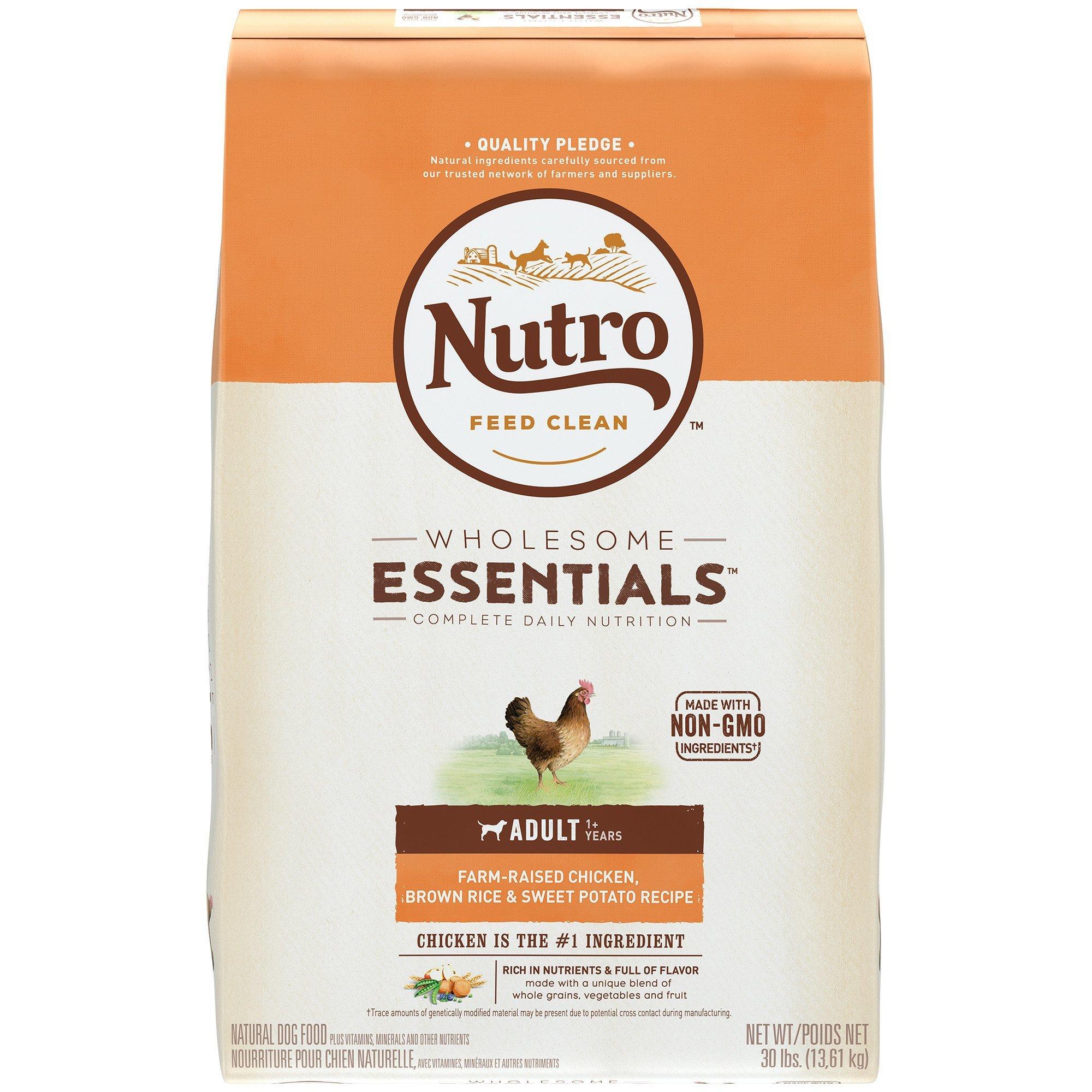Nutro Essentials Adult Farm Raised Chicken, Brown Rice, and Sweet Potato Formula Dry Dog Food 5lbs-15lbs 00084