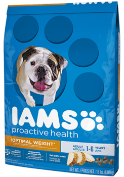 Iams Proactive Health Healthy Weight with Real Chicken Formula Dry Dog Food 7lbs 00087