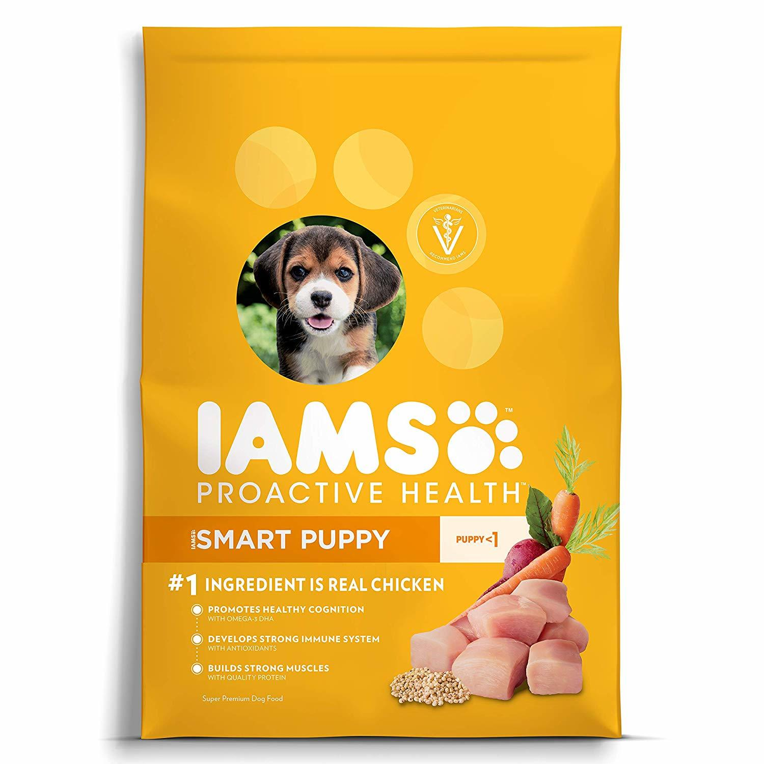Iams Proactive Health Smart Puppy with Chicken Formula Dry Dog Food 7lbs 00088