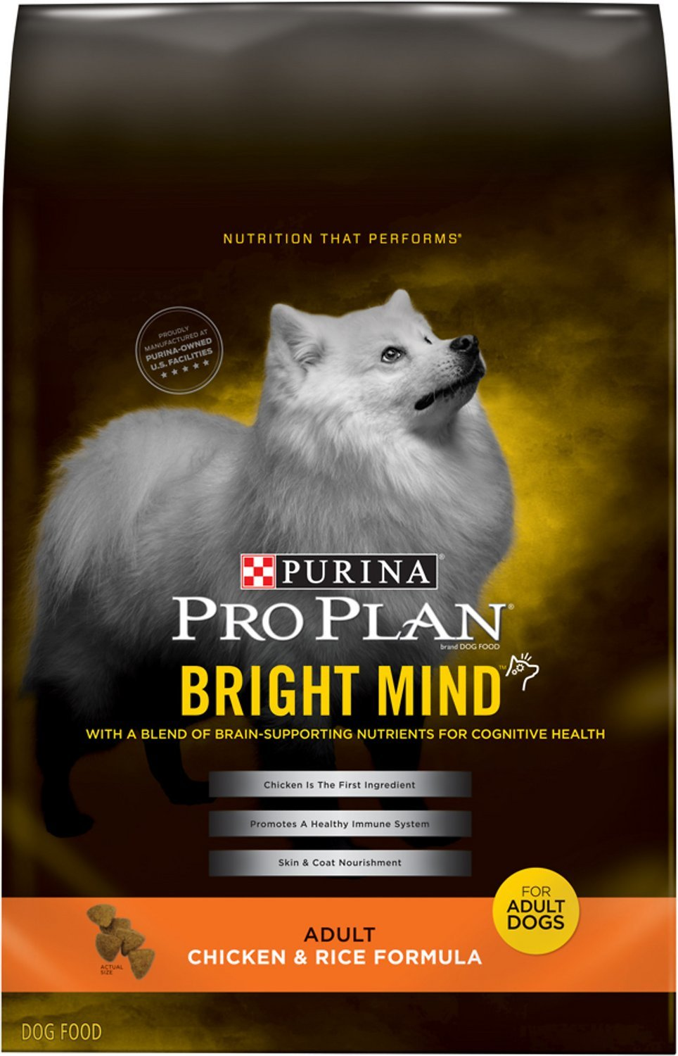 Purina Pro Plan Bright Mind Adult Chicken and Rice Formula Dry Dog Food 5lbs 00091