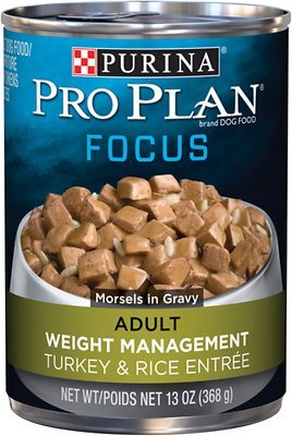 Purina Pro Plan Focus Adult Weight Management Turkey and Rice Formula Canned Dog Food 13oz 00096
