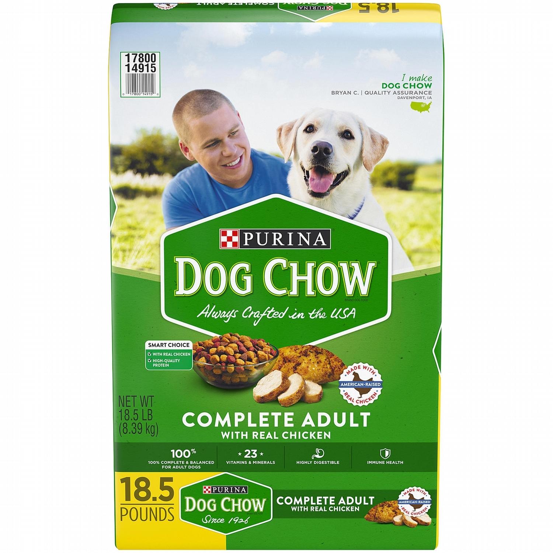 Purina Dog Chow Formula Dry Dog Food 18.5lbs-48lbs 00099
