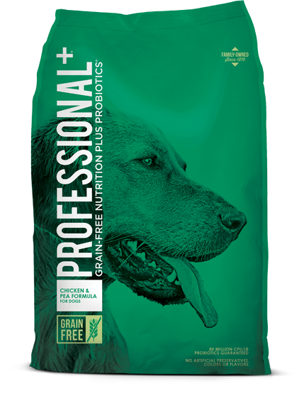 Professional Chicken and Pea Formula Dry Dog Food 28lbs 00101