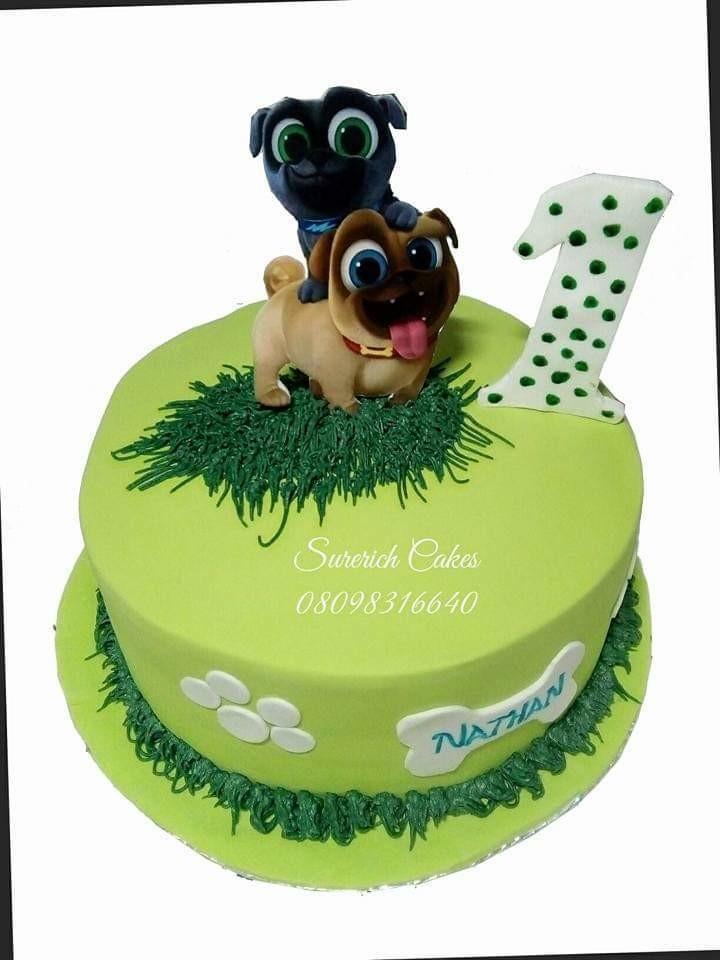 Astonishing Fondant Iced Cake Puppy Dog Pals Funny Birthday Cards Online Drosicarndamsfinfo