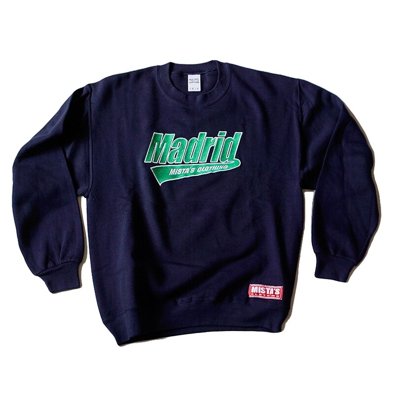 MADRID Baseball Emb Crewneck