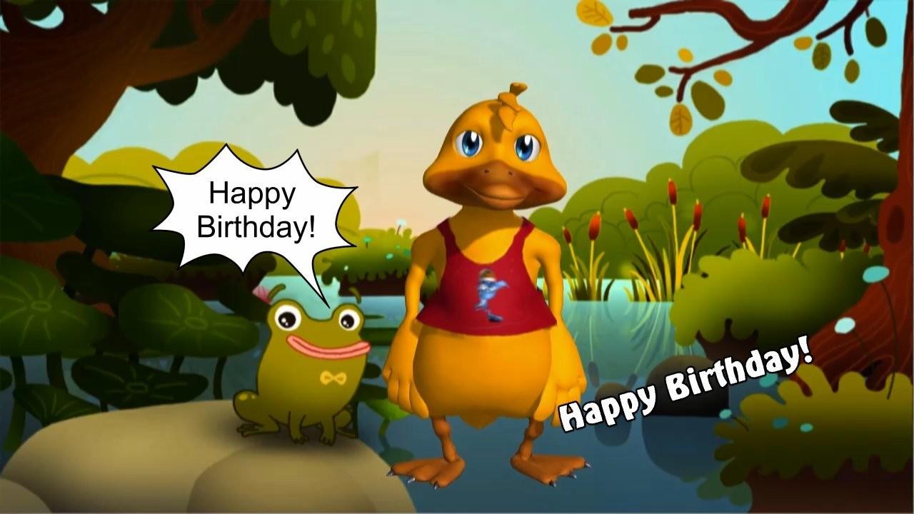 Geburtstag Video - Happy Duck (Original-Melodie)