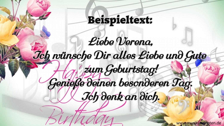 Geburtstag Video - Violine (Original - Melodie)