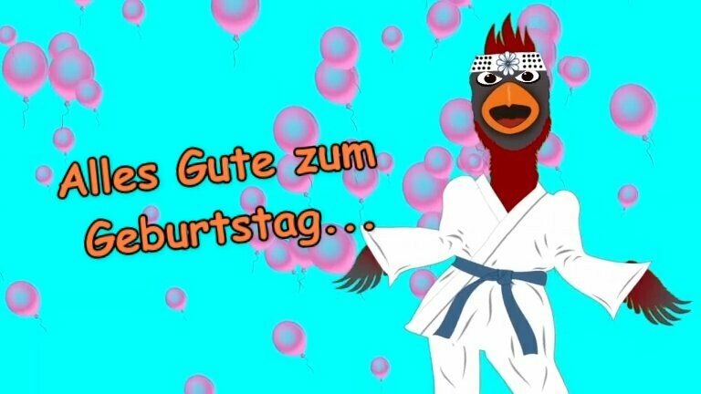 Geburtstag Video - Funny Bird