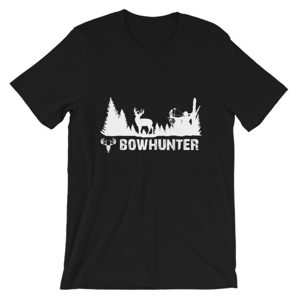 Bowhunter White Short-Sleeve Unisex T-Shirt