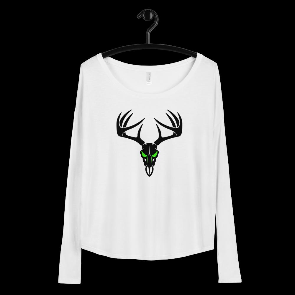 Deer Head Ladies' Long Sleeve Tee