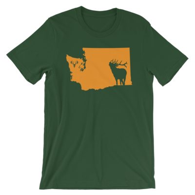 Washington State Elk Short-Sleeve Unisex T-Shirt