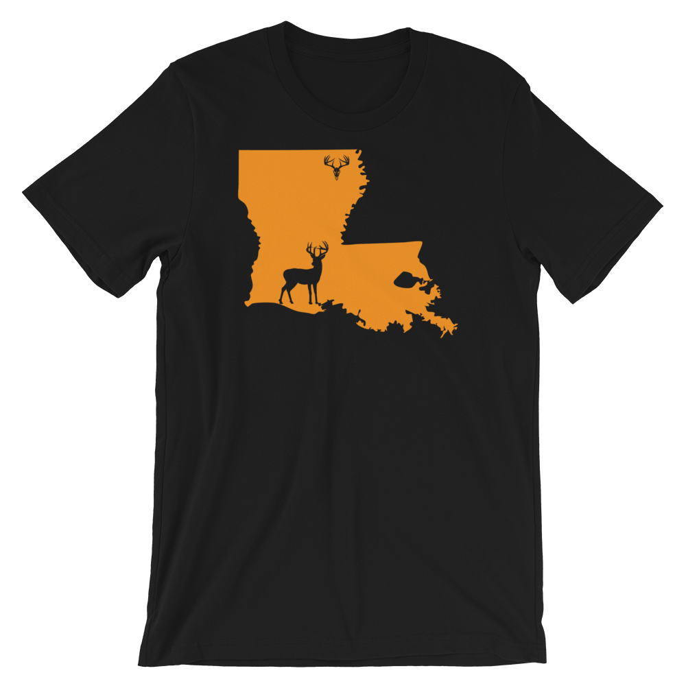 Louisiana State Whitetail Deer Short-Sleeve Unisex T-Shirt