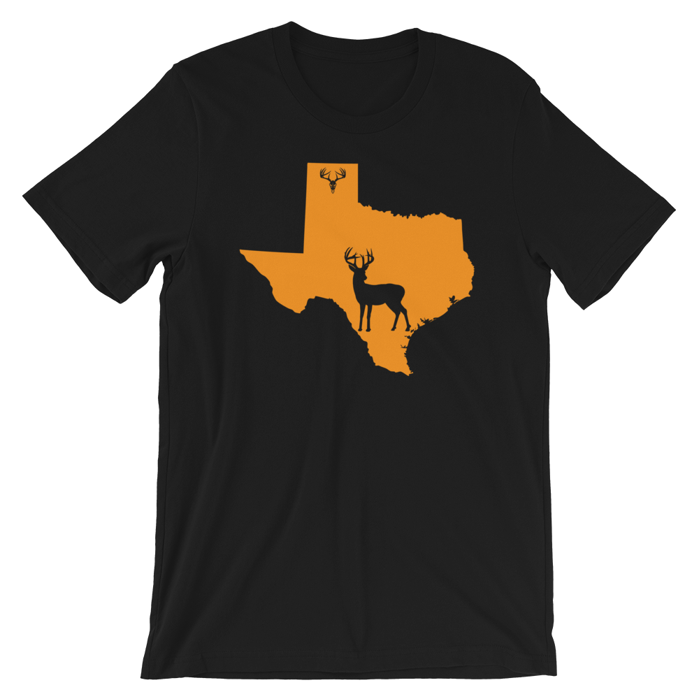 Texas State Whitetail Deer Short-Sleeve Unisex T-Shirt