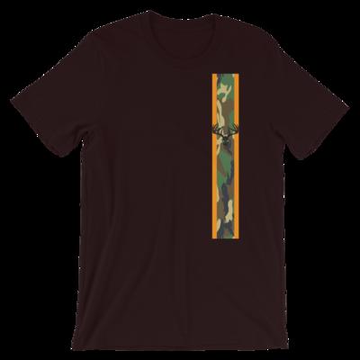 Camo Racing Stripe Short-Sleeve Unisex T-Shirt