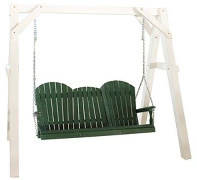 Vinyl A-Frame Swing Stand - White