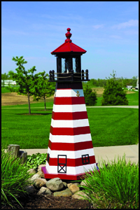 "Wood 18"" West Quoddy Lighthouse"