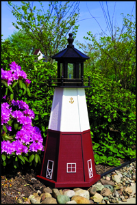 "Wood 18"" Vermillian Lighthouse"