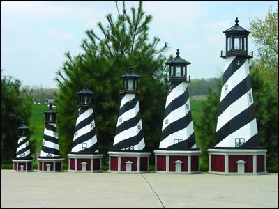 Wood Lighthouse Base