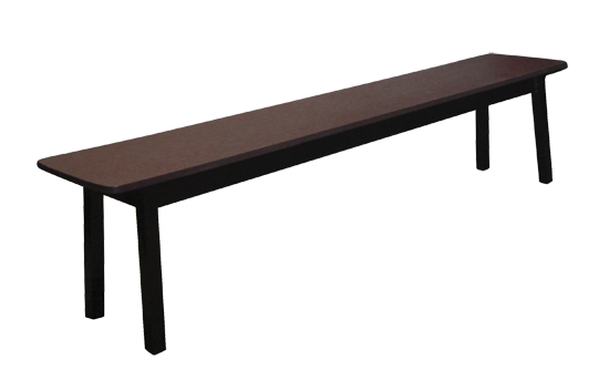 "Poly Dockside 76"" Bench"