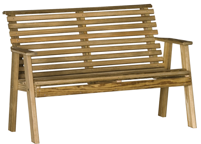Wood Plain Bench