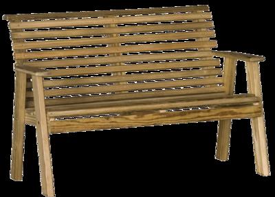 Wood Plain Bench
