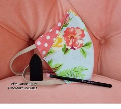 Bonus Mask Combo Offer: The Makeup Bullet - Finger Sponge & EVA JANE® Silicone Detail Angle Brush and FREE BONUS Reversible Cotton Face Mask